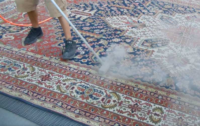 Air Dusting a rug