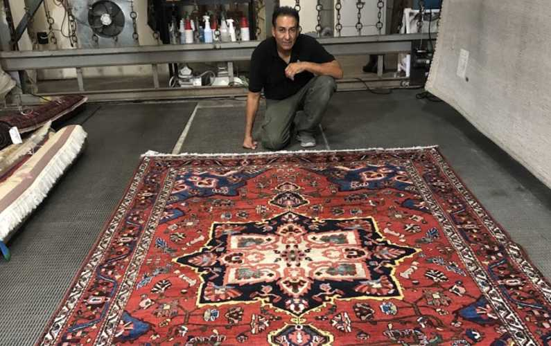 Pre-inspecting a rug
